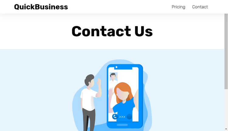 Idea Burst contact page
